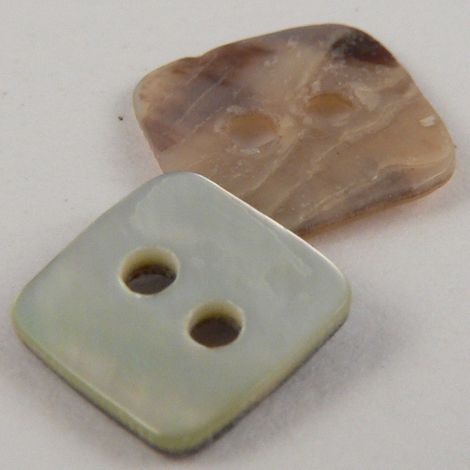10mm Square  Agoya Shell 2 Hole Button