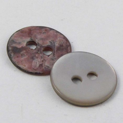 10mm Natural Round Agoya Shell 2 Hole Button