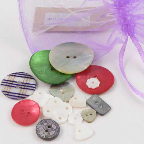 The Assorted Shell Button Gift Bag