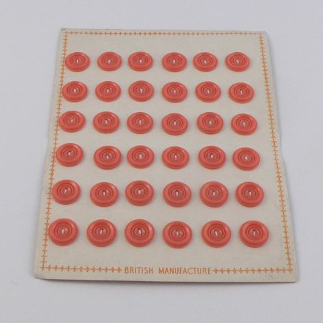 14mm Orange Vintage Sewing Button