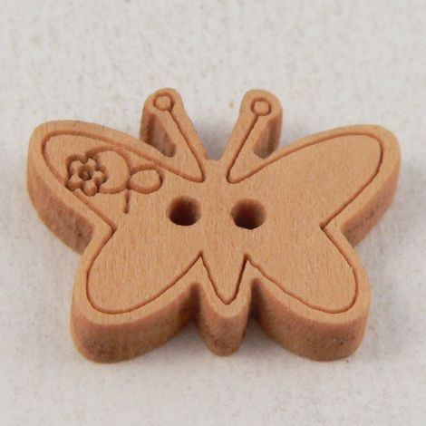 23mm Butterfly 2 Hole wood Button
