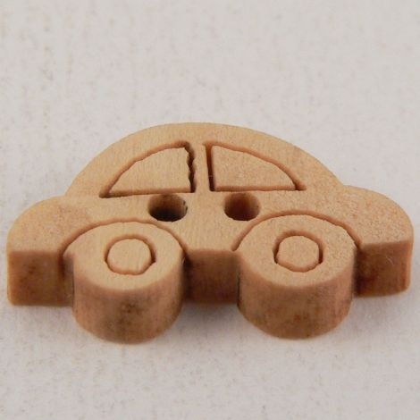 20mm Wooden Car 2 Hole Button