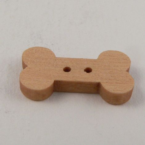 19mm Wooden Dog Bone 2 Hole Button