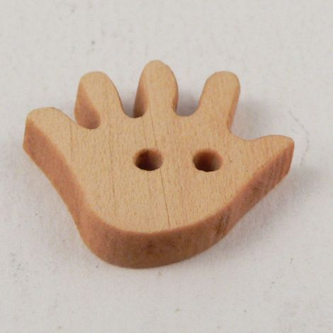 18mm Wooden Hand-shaped 2 Hole Novelty Button
