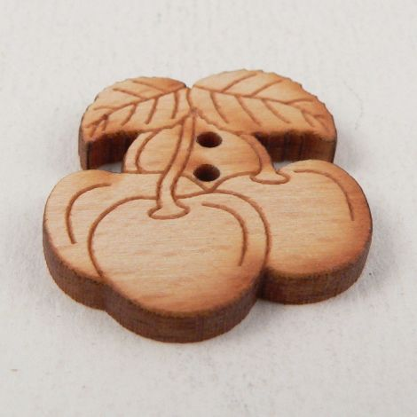 22mm Bunch Of Cherries Wood 2 Hole Button