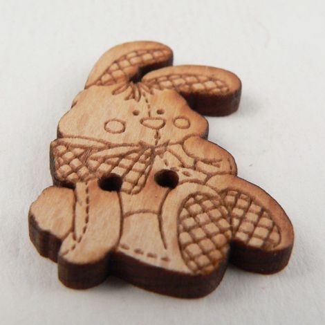 20mm Cute Rabbbit Wood 2 Hole Button