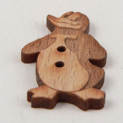 18mm Donald Duck Style Wood 2 Hole Button