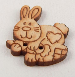 23mm Patchwork Rabbit Wood 2 Hole Button