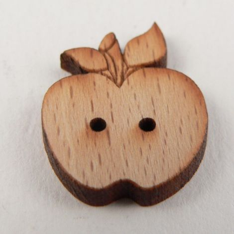 17mm Wooden Apple 2 Hole Button