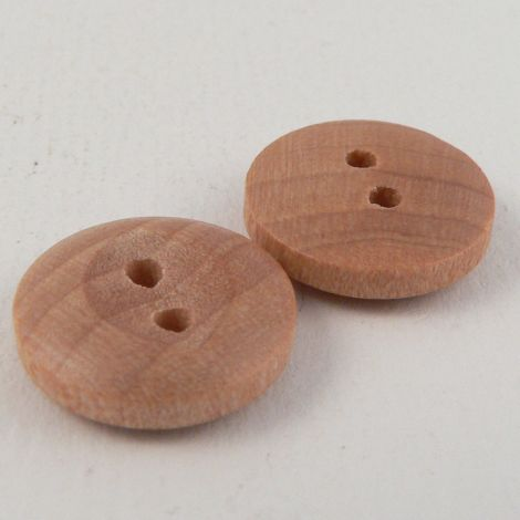 15mm Natural Wood Fisheye Style 2 Hole Button