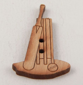 20mm Wooden Cricket Stump & Bat 2 Hole Button