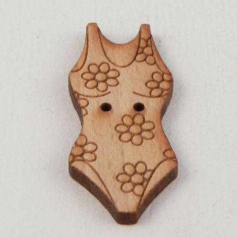 16mm Wooden Swimming Costume  2 Hole Button