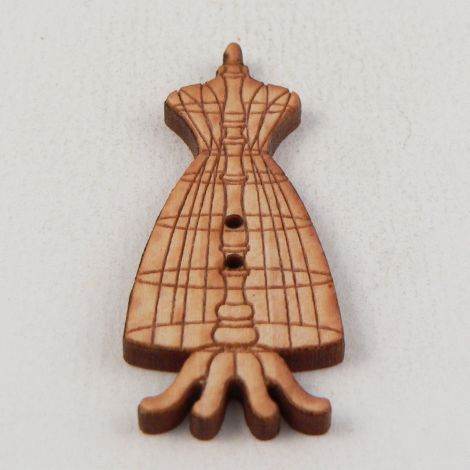 18mm Wooden Dress Mannequin 2 Hole Button