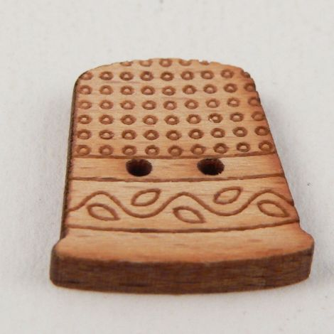 17mm Wooden Thimble 2 hole Button