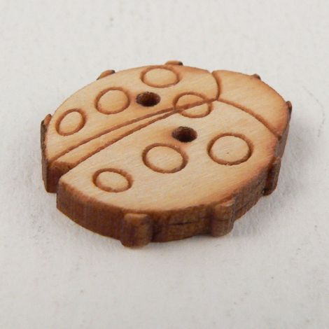 18mm Wooden Ladybird 2 Hole Button