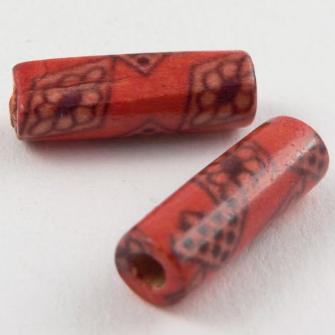 15mm Wooden 1 Hole Bead