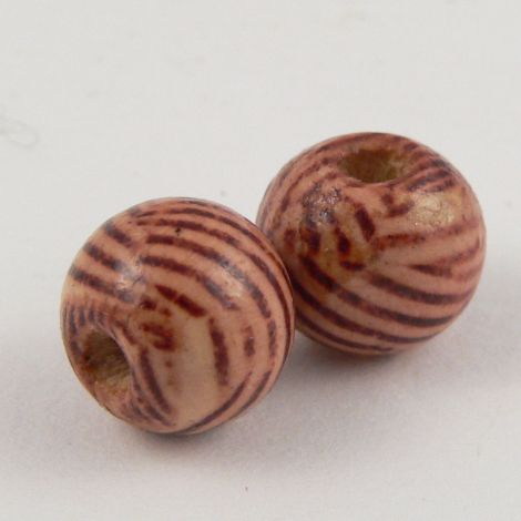 10mm Wooden 1 Hole Bead