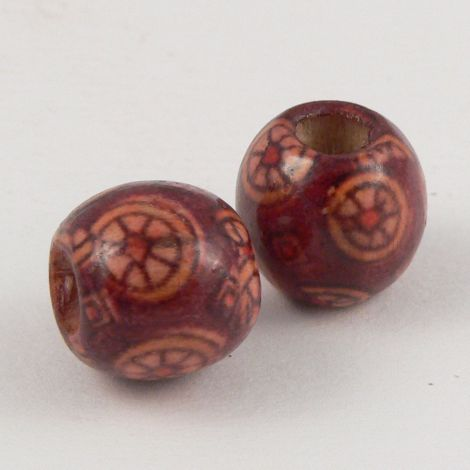 12mm Wooden 1 Hole Bead