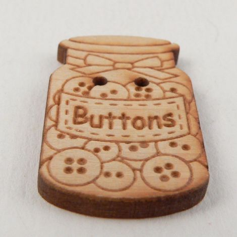 19mm 2 Hole Wooden Jar of Buttons