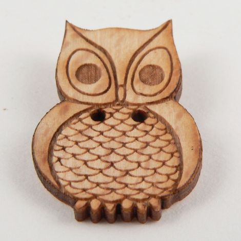 20mm Owl Wood 2 Hole Button