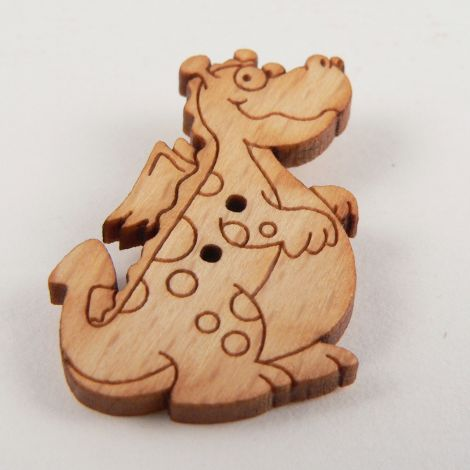 21mm Dragon Wood 2 Hole Button