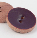15mm Purple Glazed Wood 2 Hole Button