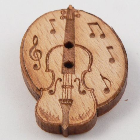 21mm Violin/Fiddle & Music Wood 2 Hole Button