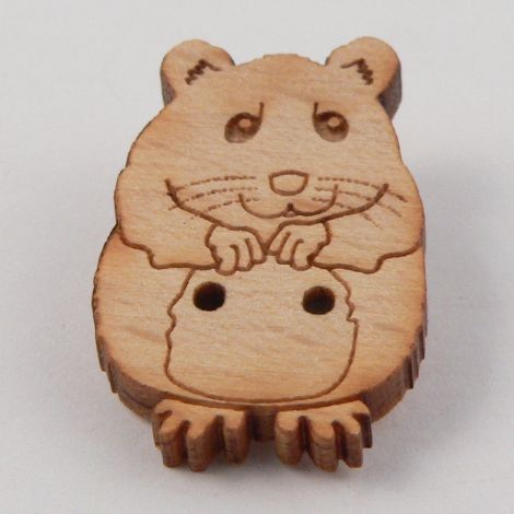 15mm Hamster Wood 2 Hole Button