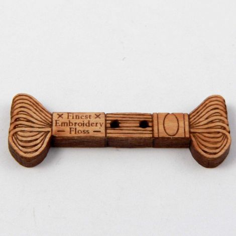 35mm Embroidery Thread Wood 2 Hole Button