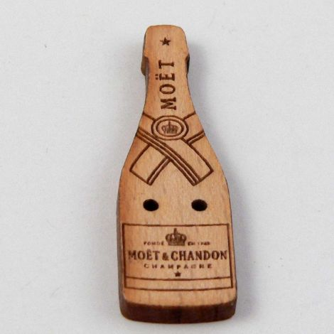 12mm Moet Champagne Wood 2 Hole Button