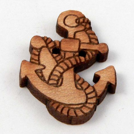 18mm Anchor and Rope Wood 2 Hole Button