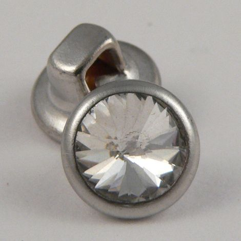 8mm Wedding Dress Faceted Glass Shank Button