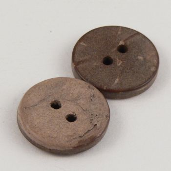 10mm Coconut Round 2 Hole Button