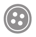 11mm Coconut Round 2 Hole Button