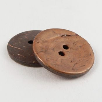 Aubergine 50mm x 2 Large Round Italian Buttons