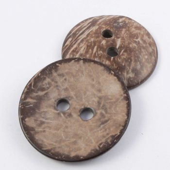 30mm Coconut Round 2 Hole Button