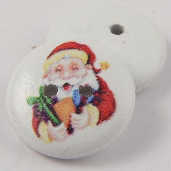 15mm Father Christmas 2 Hole Coconut Button