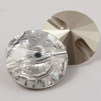 18mm Swarovski Austrian Crystal Clear Shank Button
