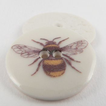 29mm Ceramic Honey Bee 2 Hole Button