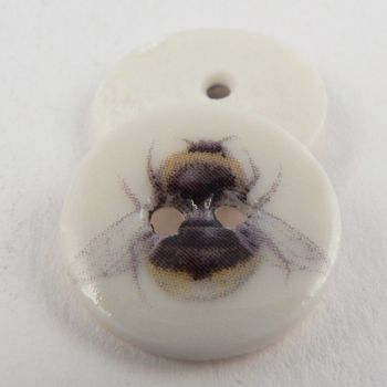 17mm Ceramic Bumble Bee 2 Hole Button
