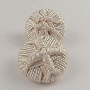 30mm Ivory Ribbon Shank Button