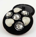 40mm Handmade Beaded & Sequinned Shank Button