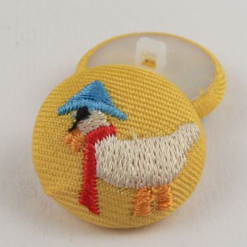 25mm Italian Embroidered Duck Shank Button