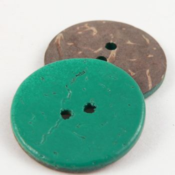 15mm Green Coconut 2 Hole Button