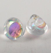 7mm Clear Glass Shank Button
