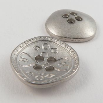 20mm Irregular Metal Abstract 4 Hole Button
