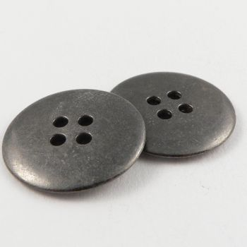 25mm Pewter  Metal 4 Hole Button