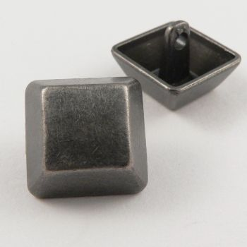 15mm Pewter Square Contemporary Shank Metal Button