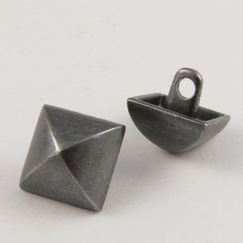 8mm Pewter Square Contemporary Shank Metal Button