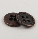 20mm Copper Metal 4 Hole Suit Button